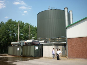 RuBa Energie biogas plant in Germany generating 1 MW of electricity and 1 MW of heat.
